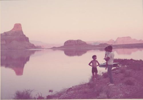 Lake Powell, 1972. I do have a mom; she's our photographer.