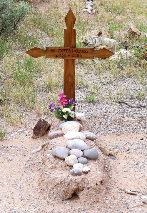 A grave at the Monastery of Christ in the Desert, Abiquiu, New Mexico