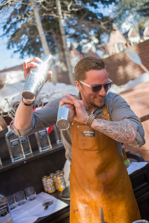 Anthony Bohlinger, Executive Bar Director of Chefs Club, gets shaking.