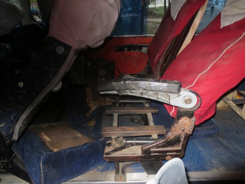 These were our bus seats. No worries, we also had 500 lbs of rice on the floor which made for good sleeping.