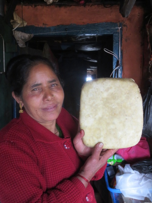 The lovely Mitra Kala Khanal, maker of yak cheese